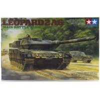 Tamiya 1/35 German MBT Leopard 2 A6 Tank Scaled Plastic Model Kit