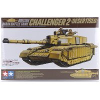 Tamiya 1/35 British MBT Challenger 2 (Desertised) Tank Scaled Plastic Model Kit