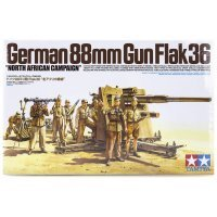 Tamiya 1/35 German 88mm Flak36/37 North Africa Campaign Scaled Plastic Model Kit