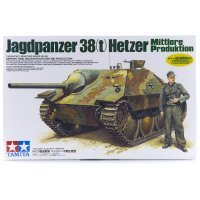 Tamiya 1/35 German Jagdpanzer 38(t) Hetzer Tank Scaled Plastic Model Kit
