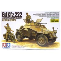 Tamiya 1/35 German Light Armored 4x4 (Sd.Kfz.222) North African Campaign Scaled Plastic Model Kit