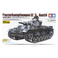 Tamiya 1/35 German Panzerkampfwagen III Ausf.N (Sd.Kfz.141/2) Tank Scaled Plastic Model Kit