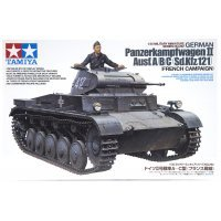 Tamiya 1/35 German Panzerkampfwagen II Ausf. A/B/C (Sd.Kfz. 121) French Campaign Tank Scaled Plastic Model Kit