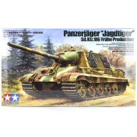 Tamiya 1/35 German Panzerjager Jagdtiger (Sk.Kfz.186) Fruhe Production Tank Scaled Plastic Model Kit