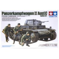 Tamiya 1/35 German Panzerkampfwagen II Ausf.C (Sd.Kfz.121) (Polish Campaign) Tank Scaled Plastic Model Kit