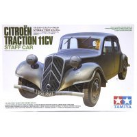 Tamiya 1/35 French/German Citroen Traction 11CV Staff Car Scaled Plastic Model Kit