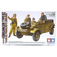 Tamiya 1/35 German Kubelwagen Type 82 Ramcke Parachute Brigade Truck Scaled Plastic Model Kit