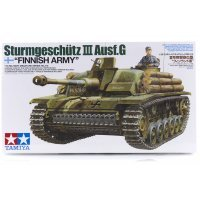 Tamiya 1/35 Finnish Sturmgeschutz III Ausf. G Tank Scaled Plastic Model Kit
