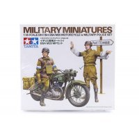 Tamiya 1/35 British BSA M20 Motorcycle w/ Military Police Set Scaled Plastic Model Kit