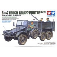 Tamiya 1/35 German Krupp Protze 6x4 Personnel Carrier (Kfz.70) Truck Scaled Plastic Model Kit