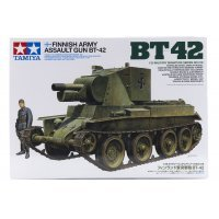 Tamiya 1/35 Finnish BT-42 Self-Propelled Assault Gun Scaled Plastic Model Kit
