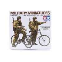 Tamiya 1/35 British Paratroopers & Bicycles Set Scaled Plastic Model Kit