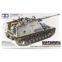 Tamiya 1/35 German Nashorn Anti-Tank (Sd. Kfz. 164) Self-Propelled Gun Scaled Plastic Model Kit
