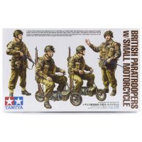 Tamiya 1/35 British Paratroopers w/ Small Motorcycles Scaled Plastic Model Kit