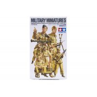 Tamiya 1/35 German Africa Corps Luftwaffe Artillery Crew Set Scaled Plastic Model Kit