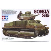 Tamiya 1/35 French Medium Somua S35 Tank Scaled Plastic Model Kit