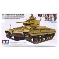 Tamiya 1/35 British (Mk.II/IV) Infantry Tank Scaled Plastic Model Kit