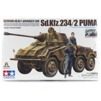 Tamiya 1/35 German Heavy Armored Car (Sd.Kfz.234/2) Puma Scaled Plastic Model Kit
