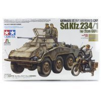 Tamiya 1/35 German (Sd.Kfz. 234/1) Heavy Armored Car Scaled Plastic Model Kit