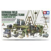 Tamiya 1/35 German Field Maintenance Team & Equipment Set Scaled Plastic Model Kit