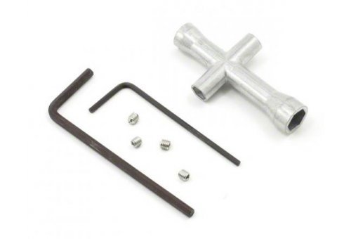 Tamiya Small Cross Wrench & 1.5, 2.5mm Allen Key Tool Set