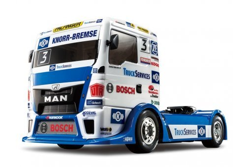 Tamiya 1/10 TT-01E Team Hahn Racing Man TGS Electric On Road RC Truck Kit