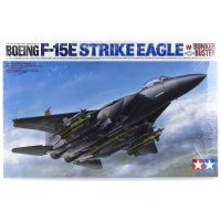 Tamiya 1/32 Boeing F-15E Strike Eagle w/ Bunker Buster Jet Scaled Plastic Model Kit