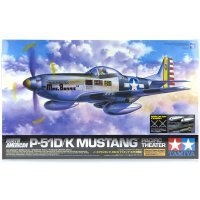 Tamiya 1/32 Boeing North American Pacific Theater P-51D/K Mustang Scaled Plastic Model Kit