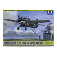 Tamiya 1/48 Grumman F4F-4 Wildcat Scaled Plastic Model Kit