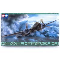 Tamiya 1/48 Heinkel HE219 UHU Fighter Scaled Plastic Model Kit