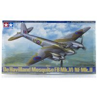 Tamiya 1/48 de Havilland Mosquito FB Mk.VI/NF Mk.II Bomber Scaled Plastic Model Kit