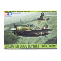 Tamiya 1/48 Brewster B-339 Pacific Theater Buffalo Fighter Scaled Plastic Model Kit