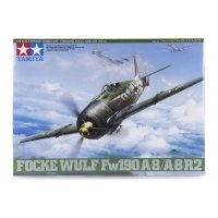 Tamiya 1/48 Focke-Wulf Fw190 A-8/A-8 R2 Fighter Scaled Plastic Model Kit
