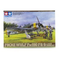 Tamiya 1/48 Focke-Wulf Fw190 F-8/9 Fighter w/ Bomb Loading Set Scaled Plastic Model Kit