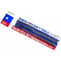 Tamiya Modelers Basic File Set Medium Double-Cut Craft Tool