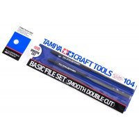Tamiya Modelers Basic File Set Smooth Double-Cut Craft Tool