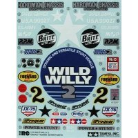 Tamiya Wild Willy Sticker and Decal Sheet