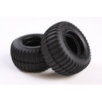 "Tamiya Grasshopper 1.9"" Rubber Ribbed Sand Rear Tyres 2Pcs"