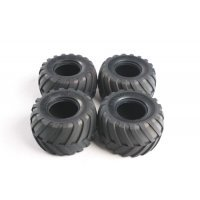 "Tamiya Lunch Box 1.9"" V Groove Tyres 4Pcs"