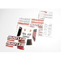 Traxxas Rustler VXL Decals Sheet