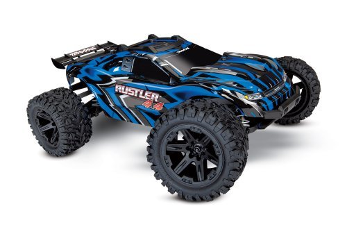 Traxxas 1/10 Rustler 4x4 Electric Brushed RC Stadium Truck