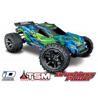 Traxxas 1/10 Rustler 4x4 VXL Electric Brushless RC Stadium Truck