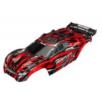 Traxxas Rustler 4X4 Brushed Red Painted Body Shell