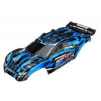 Traxxas Rustler 4X4 Brushed Blue Painted Body Shell