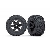 "Traxxas 2.8"" Talon Extreme Tyres on Black RXT Rims - Glued Wheels 2Pcs"