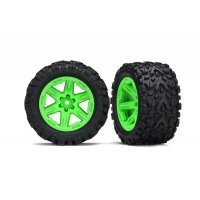 "Traxxas 2.8"" Talon Extreme Tyres on Green RXT Rims - Glued Wheels 2Pcs"