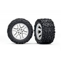"Traxxas 2.8"" Talon Extreme Tyres on Satin Chrome RXT Rims - Glued Wheels 2Pcs"