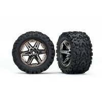 "Traxxas 2.8"" Talon Extreme Tyres on Black Chrome RXT Rims - Glued Wheels 2Pcs"