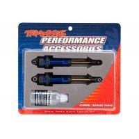 Traxxas Blue GTR XX-Long Aluminium Body Shocks w/o Springs 2Pcs