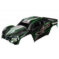 Traxxas 8S X-Maxx Complete GreenPainted Body Shell w/ Front and Rear Roll Cage Mounts